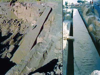 Giant unfinished Obelisk Aswan Egypt